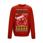 NIRVANA - SWEATSHIRT, SMILEY CHRISTMAS
